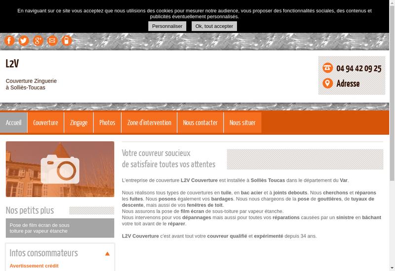 Capture d'écran du site de L2V