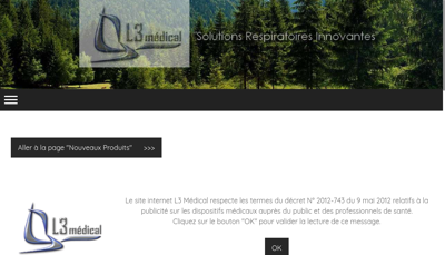 Capture d'écran du site de L3 Medical