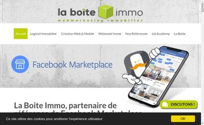 Site internet de La Boite Immo