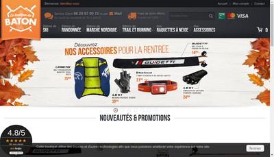 Site internet de La Boutique du Baton