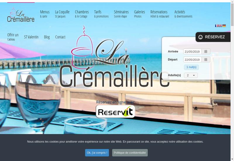 Capture d'écran du site de La Cremaillere et le Gytan