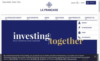 Site internet de La Francaise Asset Management
