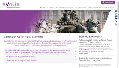 Site internet de Evolia
