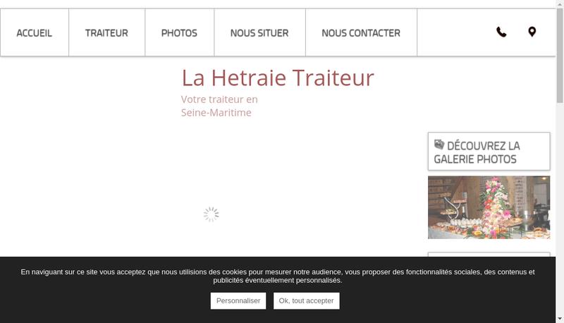Capture d'écran du site de La Hetraie Traiteur