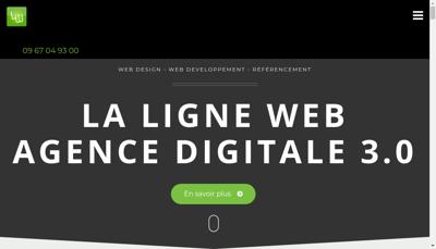 Capture d'écran du site de La Ligne Web