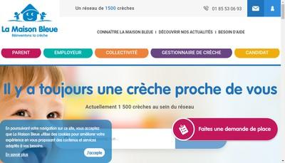 Site internet de La Maison Bleue - Asnieres