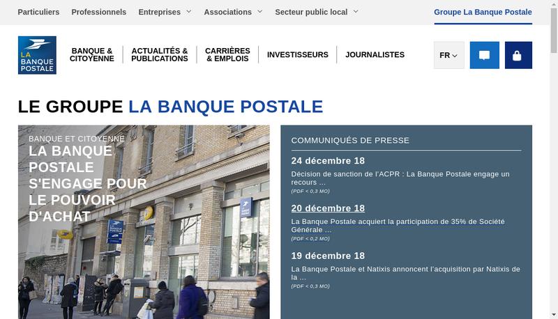Capture d'écran du site de La Banque Postale Home Loan Sfh