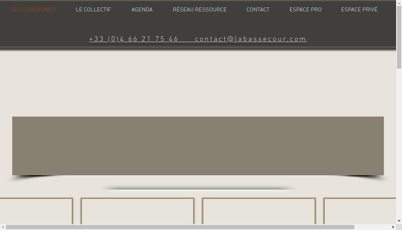 Capture d'écran du site de Collectif la Basse Cour