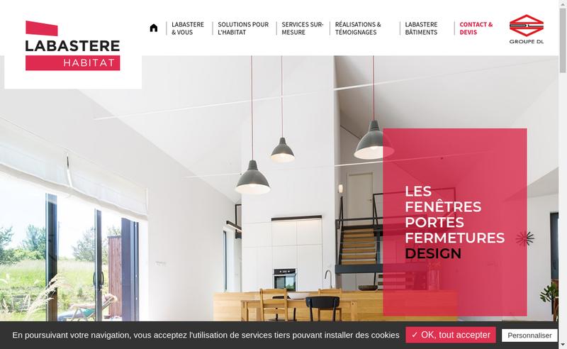 Capture d'écran du site de Labastere 64