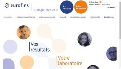 Site internet de Eurofins Labazur Bretagne