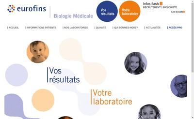Site internet de Eurofins Labazur Nice
