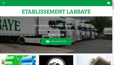 Capture d'écran du site de Etablissements Labbaye