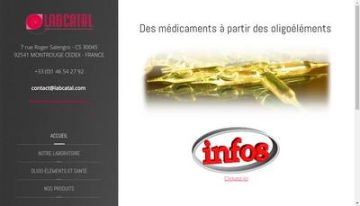 Site internet de Labcatal Special Pharmacie