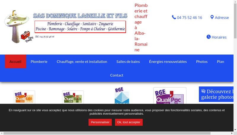 Capture d'écran du site de Dominique Labeille & Fils
