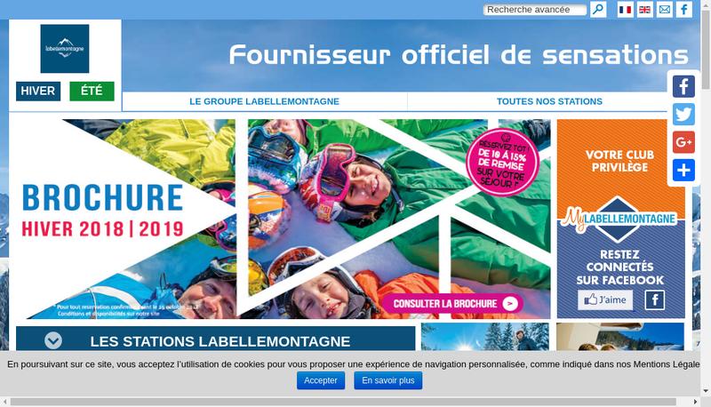 Capture d'écran du site de Odalys Labellemontagne