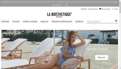 Site internet de La Biosthetique Marcel Contier