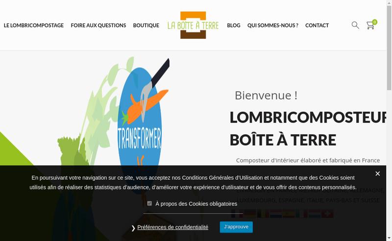 Capture d'écran du site de Merisier Conseil