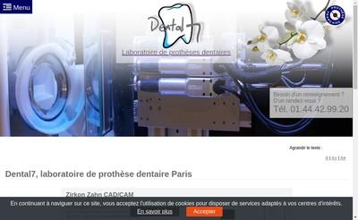 Site internet de Dental 7