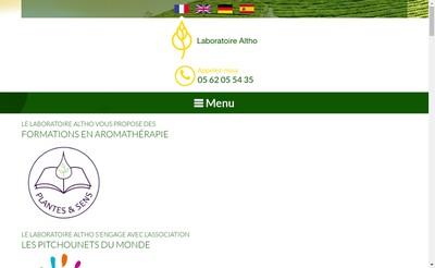Site internet de SAS Laboratoire Altho