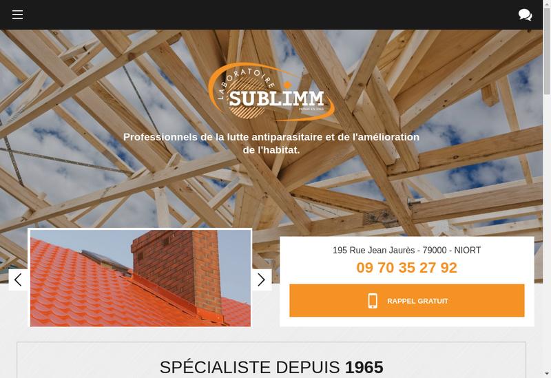 Capture d'écran du site de Laboratoire Sublimm 79