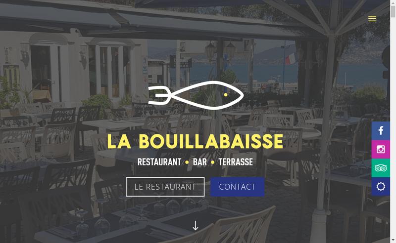 Capture d'écran du site de Restaurant la Bouillabaisse