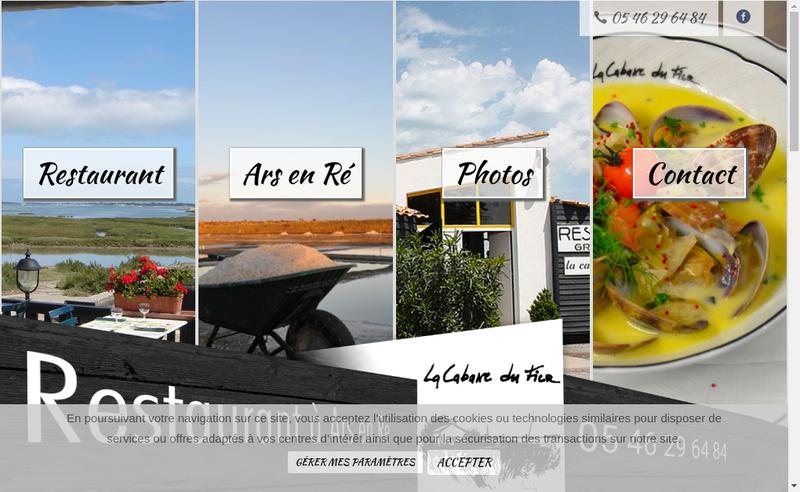Capture d'écran du site de La Cabane du Fier