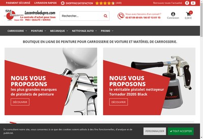 Site internet de SM Distribution