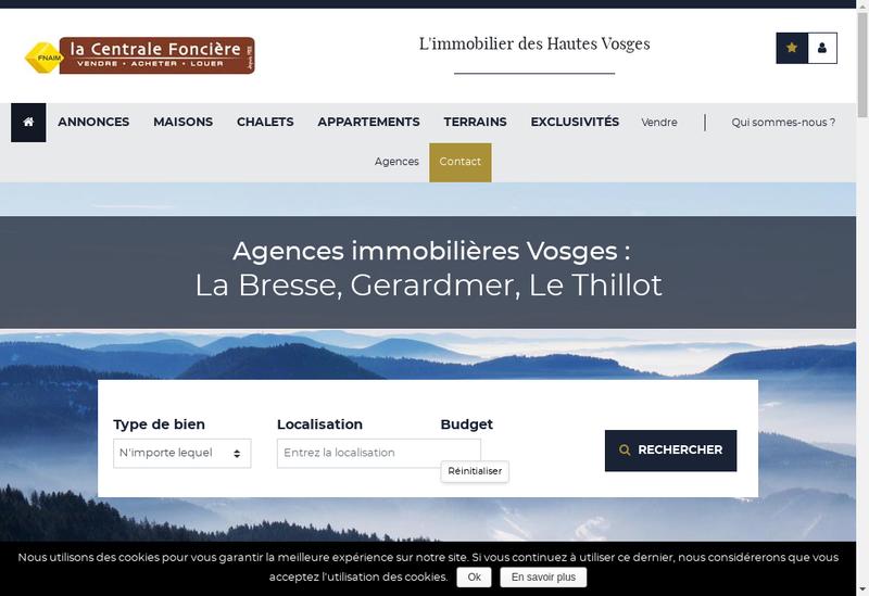 Capture d'écran du site de Immo la Bresse