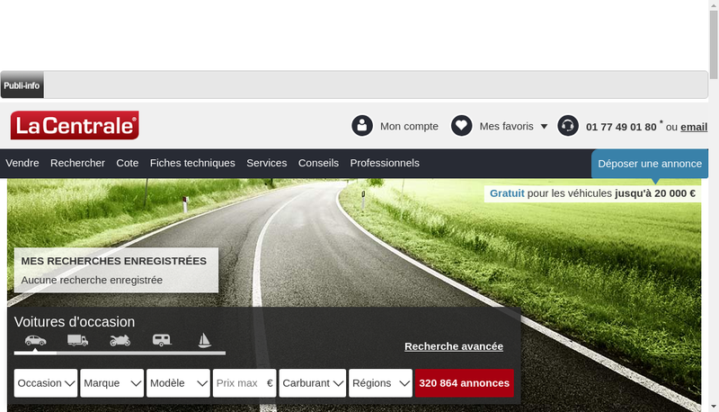 Capture d'écran du site de Dallard Motors Multimarques