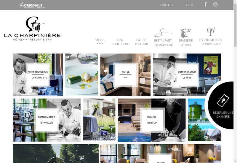 Capture d'écran du site de La Charpiniere