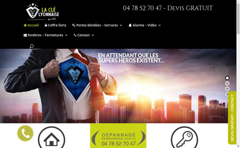 Capture d'écran du site de Le Cle Lyonnaise