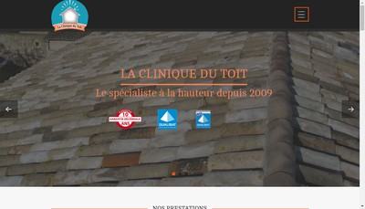 Site internet de La Clinique du Toit