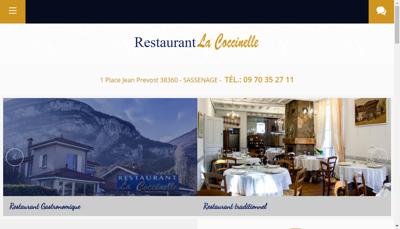 Capture d'écran du site de SARL Coccinelle