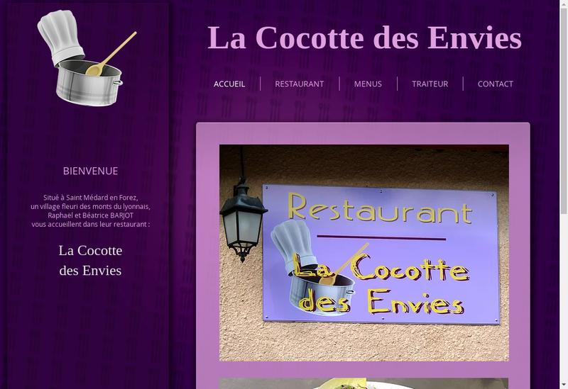 Capture d'écran du site de La Cocotte des Envies
