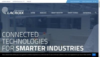 Site internet de Lacroix Electronics
