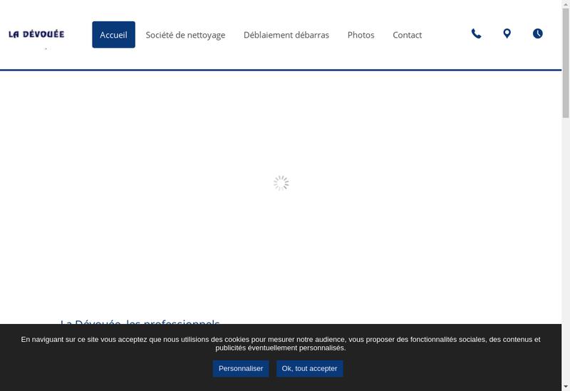 Capture d'écran du site de La Devouee
