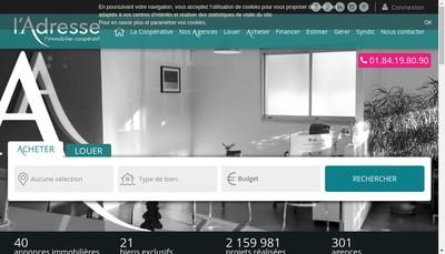 Site internet de Agence Antony Parc