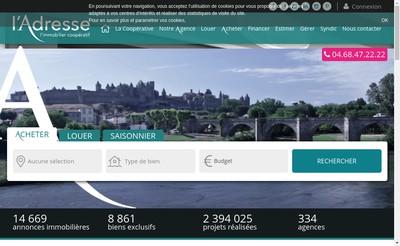 Site internet de Columbo Immobilier