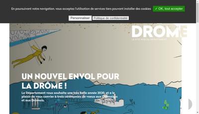 Site internet de Les Saveurs de la Drome