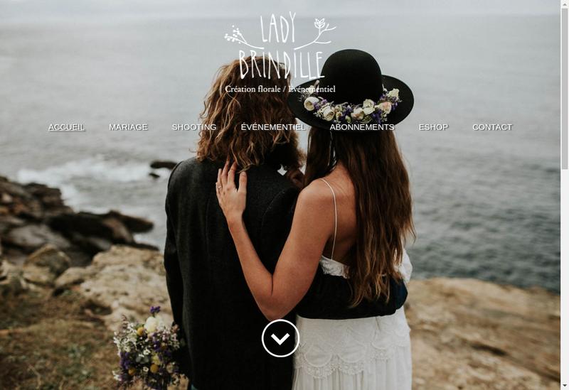 Capture d'écran du site de Lady Brindille