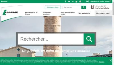 Site internet de Lafargeholcim Betons