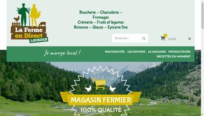 Site internet de La Ferme en Direct