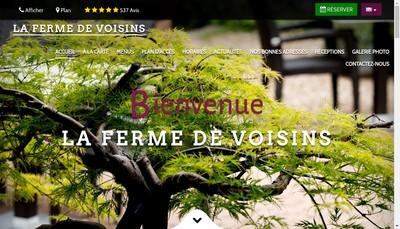 Site internet de La Ferme de Voisins