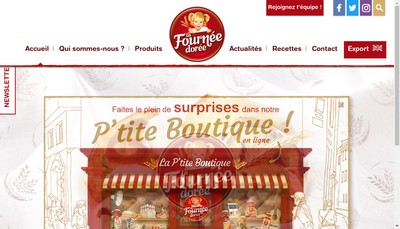 Site internet de La Fournee Doree - Lfd