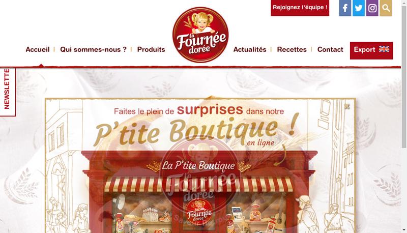 Capture d'écran du site de La Fournee Doree Lfd