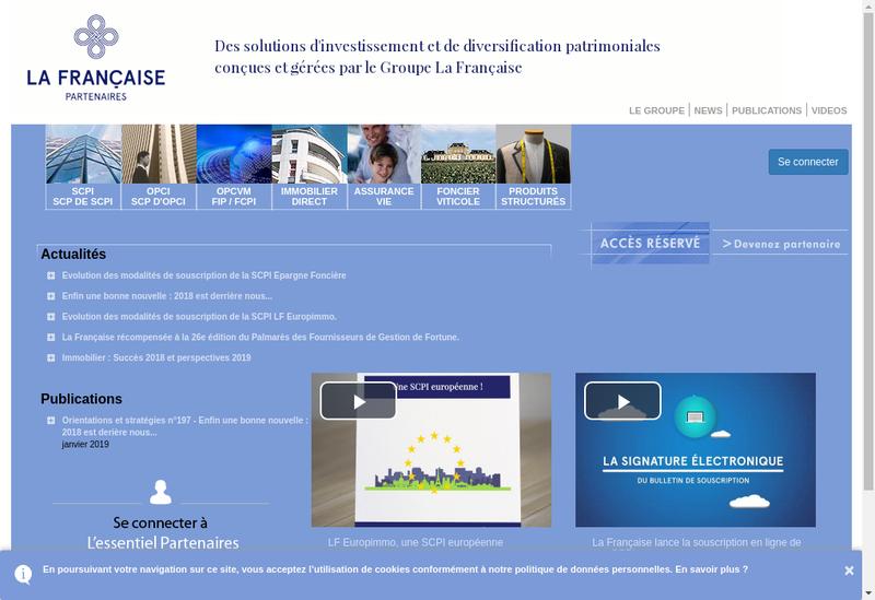 Capture d'écran du site de La Francaise Asset Management