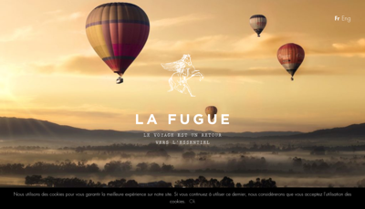 Capture d'écran du site de La Fugue