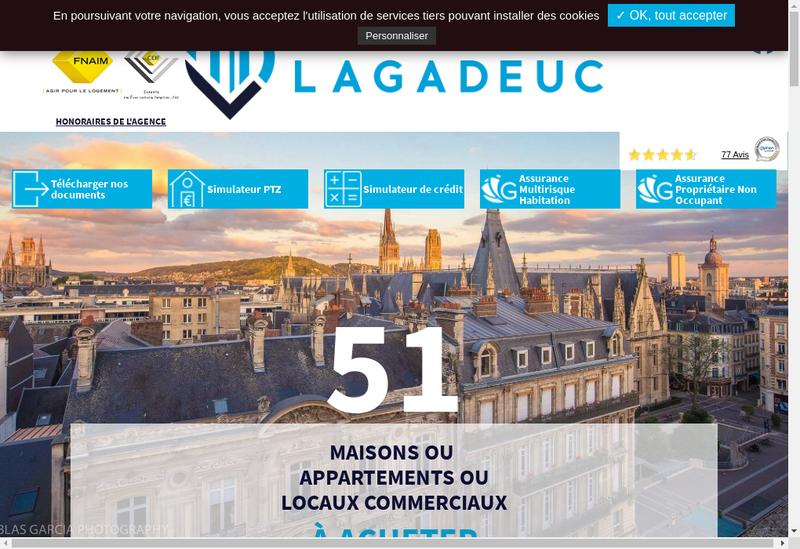 Capture d'écran du site de Cabinet Lagadeuc