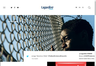 Site internet de Lagardere Studios
