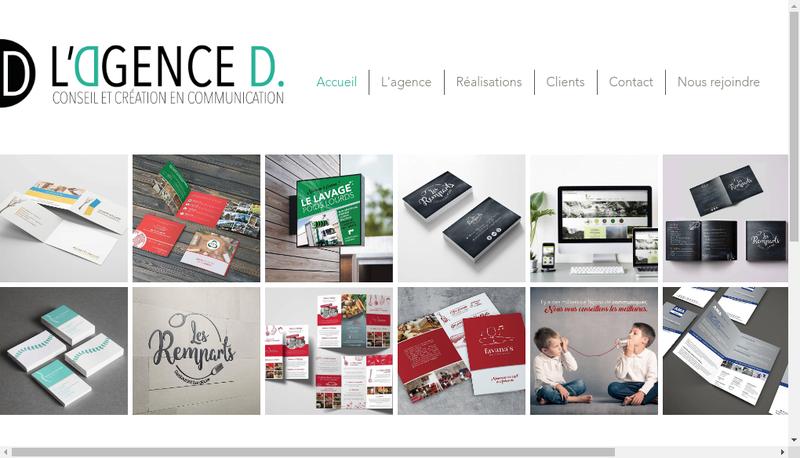Capture d'écran du site de L'Agence D
